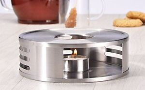 Image Is Loading Stainless Steel Teapot Food Coffee Warmer With Tealight