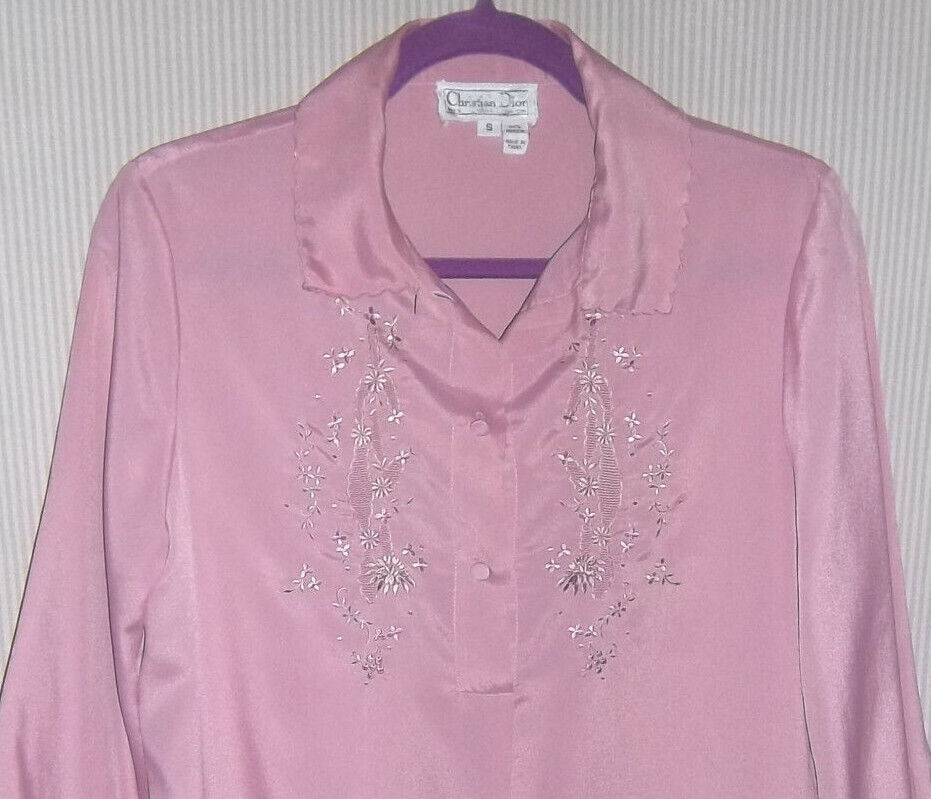 Vintage 1980's Christian Dior Size S Lilac Night … - image 1