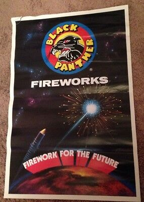 Black Panther Fireworks Firework For The Future Store Display Advertising Poster Collectibles