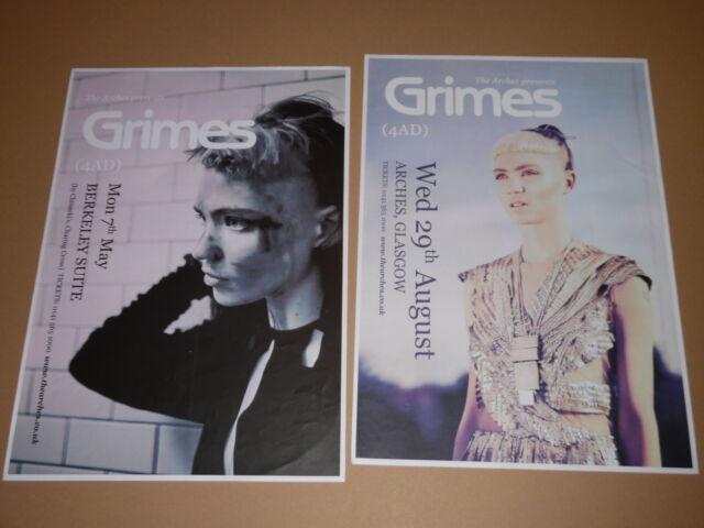 GRIMES - rare live tour concert / gig poster - bargain joblot collection