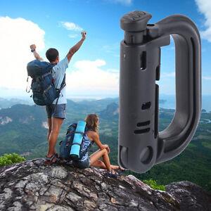 Tactical-Backpack-Carabiner-Snap-D-Ring-Clip-KeyRing-Locking-Hiking-Camping-MK