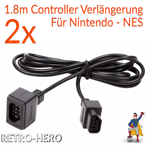 2x-Nintendo-NES-Verlaengerungskabel-Controller-Verbindung-Kabel-Pad-Verlaengerung