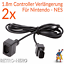 2x-Nintendo-NES-Verlaengerungskabel-Controller-Verbindung-Kabel-Pad-Verlaengerung Indexbild 1