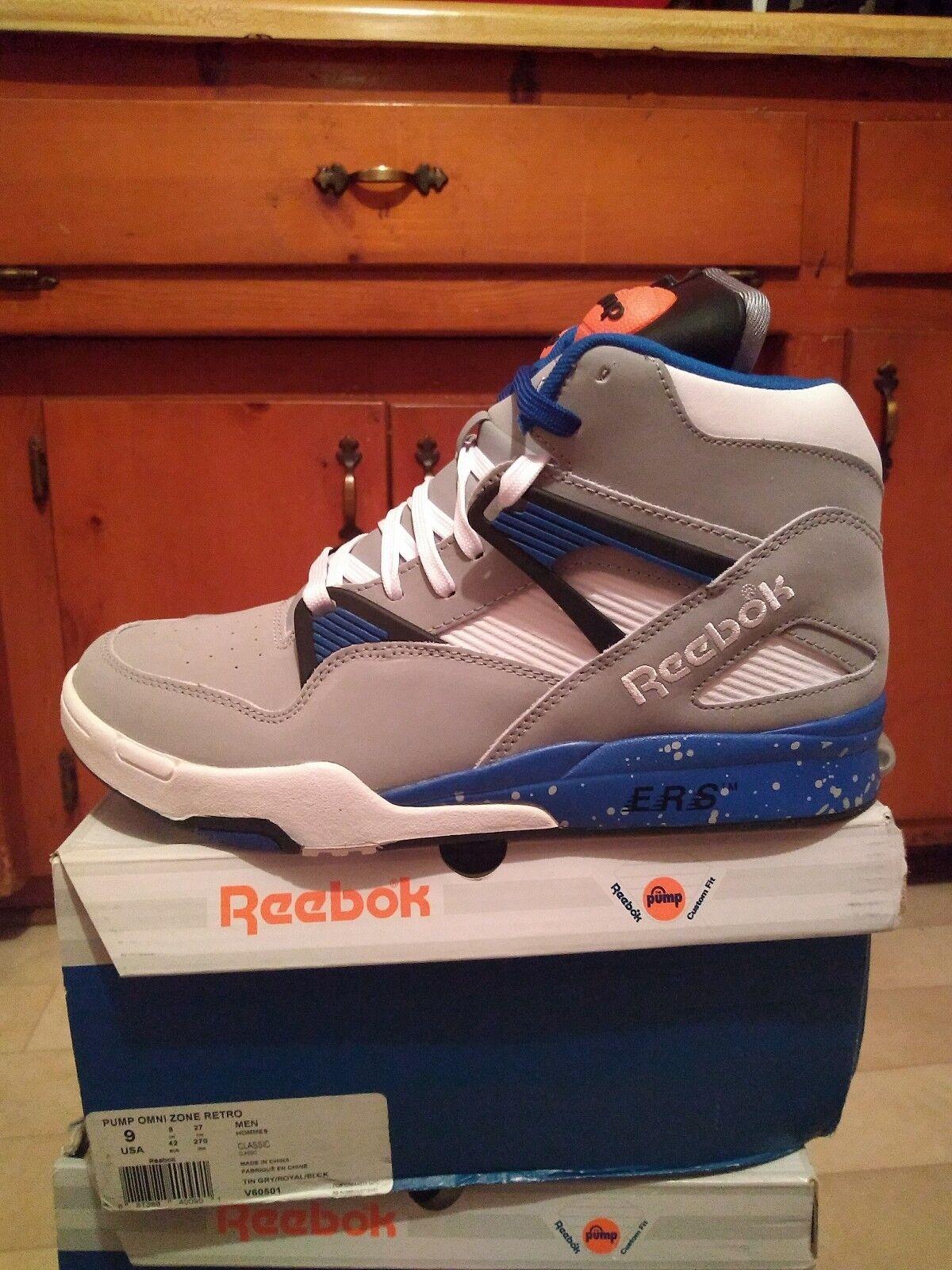 Reebok Pump Omni Lite Grey bluee White Size 9