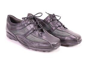 C1717-Theresia-M-Damen-Komfort-Sneaker-Halbschuhe-Leder-Gr-38-5-K-schwarz