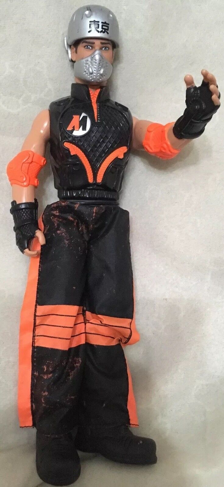 Rara Rara Rara Vintage 2000 Hasbro Action Man En Original Negro Y Naranja Outfit Y Botas  disfrutando de sus compras