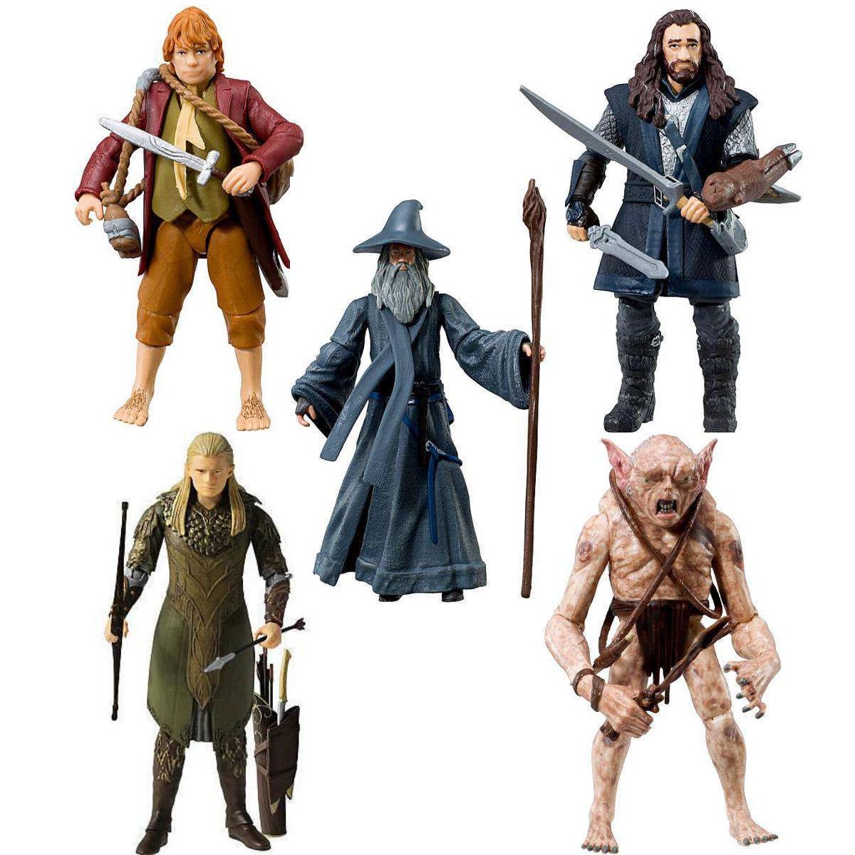 Der hobbit - eine unerwartete reise 9.5cm aktion figuren zur wahl aus 5 neuwertig