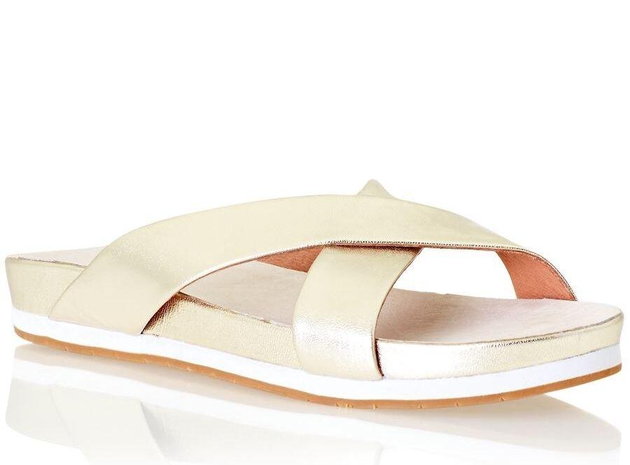 Havianas Flip Flops Sandal Size 11/12M Cute PUGS Beige/Blue Fitness Dogs Design