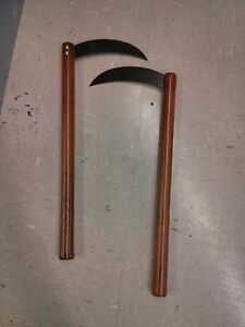 NEW-Steel-Bladed-Kamas-Pair-Weapons-Martial-Arts-Training