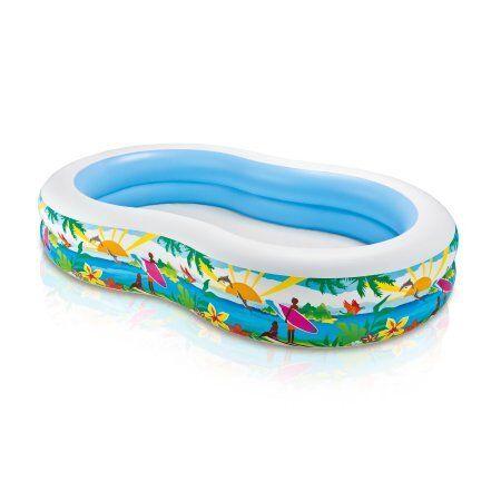 Intex Swim Center Inflatable Paradise Seaside Kids Swimming Pool ...
