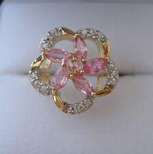 Beautiful Sri Lankan Padparadscha Sapphire Gold Ring