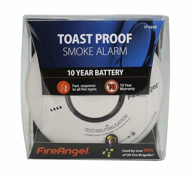 FireAngel ST-622 ST-622Q 10 Year Thermally Enhanced Optical Smoke Alarm NEW BOX