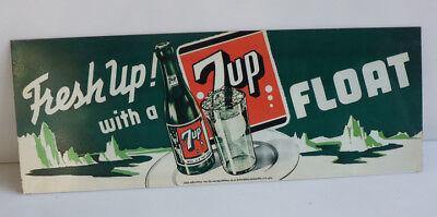"1954 7UP Soda Carton Never Used  7-UP Float Recipe ""New Old Stock"""
