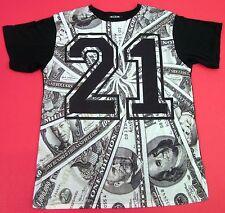 KONFLIC LUCKY 21 Sublimation T-shirt Cash Money Dollar Bills Adult Men New