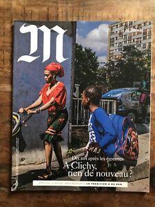 M Le magazine du Monde  oct 2015 N°214 : Clichy & les Emeutes- Vin &Gastronomie