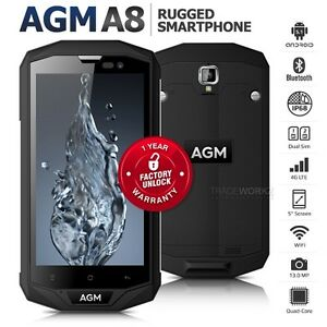 Image Is Loading Unlocked Agm A8 Black 5 034 Dual Sim