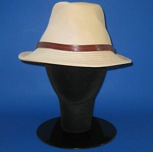 4504aca7b06 NWT Burberry Ladies  Ryan  Honey 100% Cotton Trilby Fedora Hat - L ...