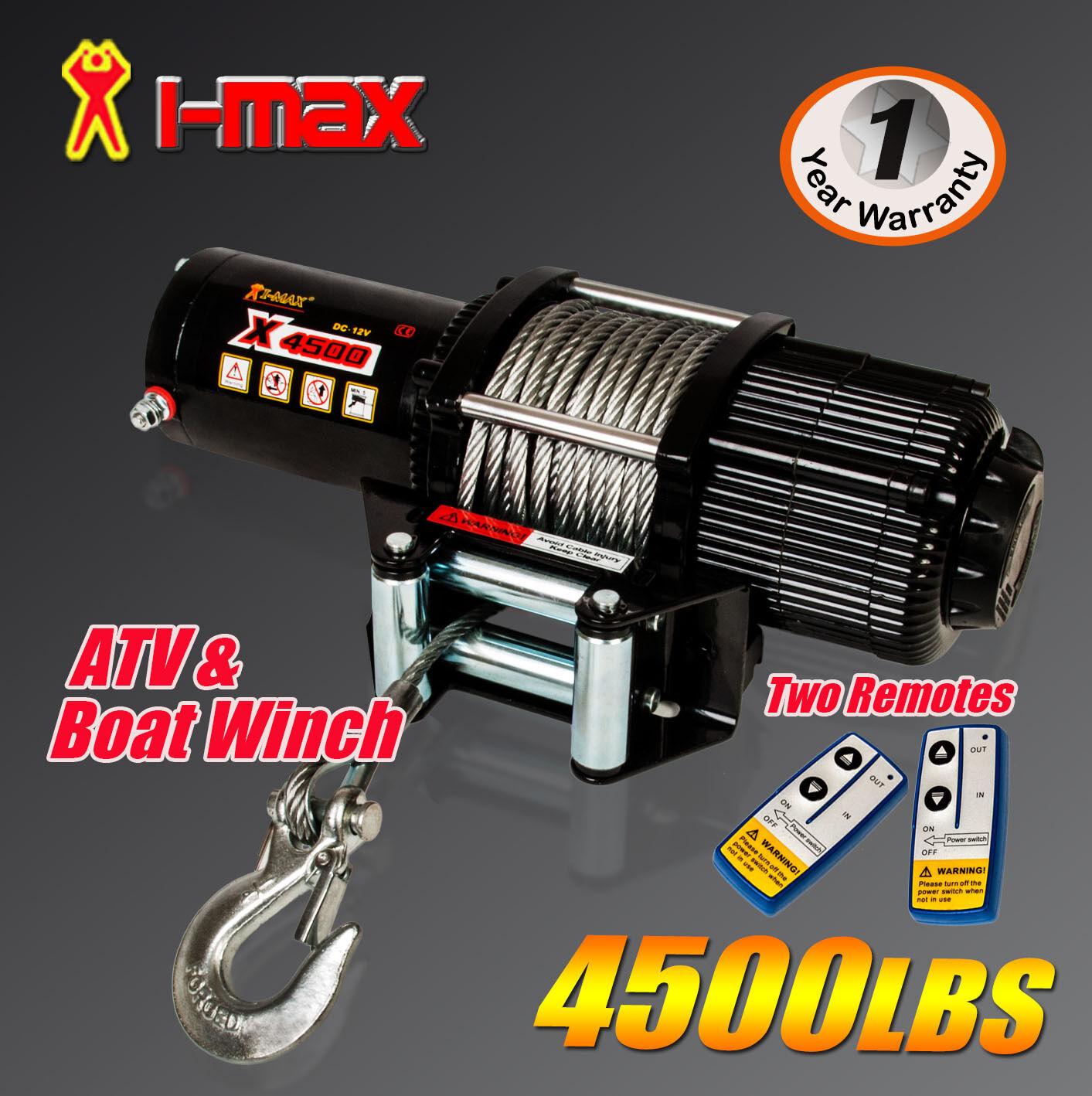 Imax Winch Wiring Diagram 12v Schematics 12 Volt Electric I Max Wireless 4500lbs 2041kgs Atv 4wd 4x4 Boat Solenoid