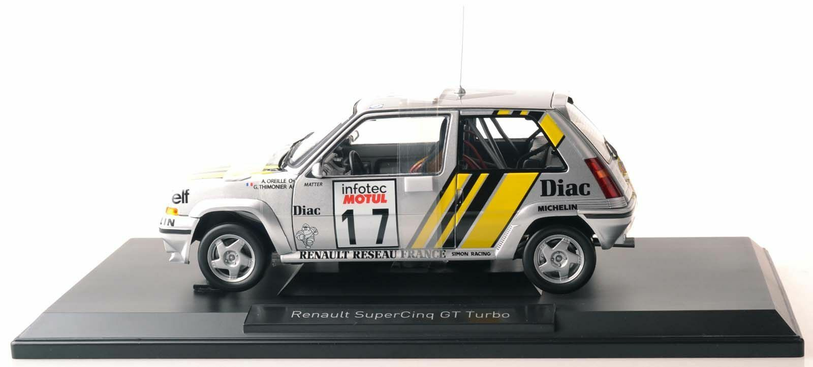 NOREV 185215 PEUGEOT Supercinq GT Turbo Tour de Corse 1989 1 18 Nouveau Neuf dans sa boîte