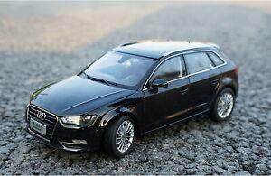 Escala-1-18-AUDI-A3-Sportback-Negro-modelo-automovil-de-fundicion-Juguete-Regalo-De-Coleccion