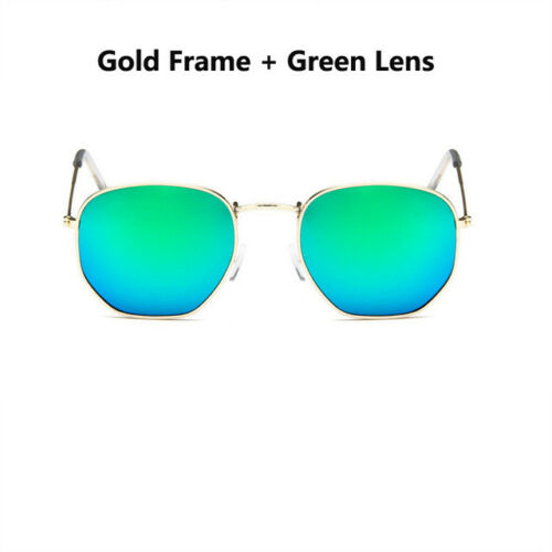 Brand Klassisch Sechskant Sonnenbrille Damen Herren Vintage Farbverlauf Spiegel