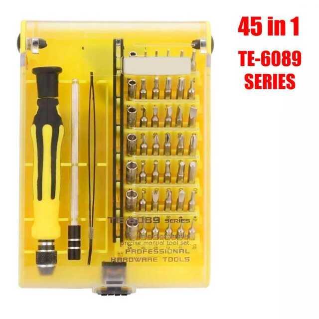 Kit de Herramientas Profesional 45 en 1 TE-6089 Destornillador de Precision