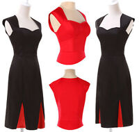 NEW VINTAGE CHIC 1950'S RETRO PENCIL WIGGLE PIN UP PARTY DRESS 2COLOR