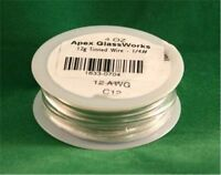 1/4 Lb. 12g Gauge Tinned Wire For Stained Glass Projects
