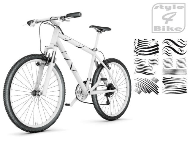 Rahmen Dekor Streifen Fahrrad Aufkleber *NEU* von style4Bike
