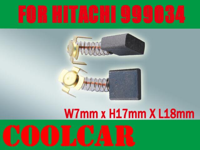 Carbon Brushes For Hitachi 999034 Cut-off Saw CS-14 PSU-7 PSB-15 H-12C PDM-180