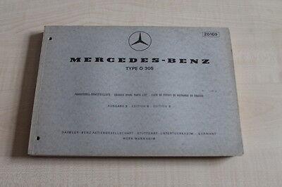 161628) Mercedes Type O 305 Ersatzteilkatalog 10/1969