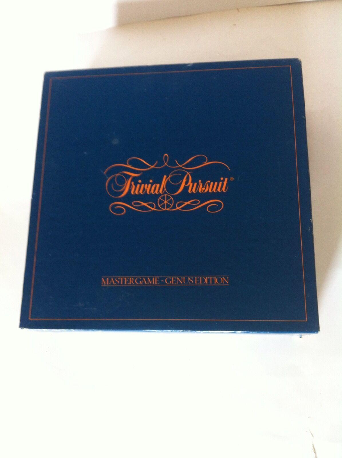 TRIVIAL PURSUIT MASTER GAME - GENUS EDITION 1981 VERSION UNUSED READ DESCRIPTION