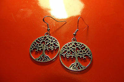 Silvered Classic Round Layered Peony Rose Earrings on .925 Sterling Silver Hooks