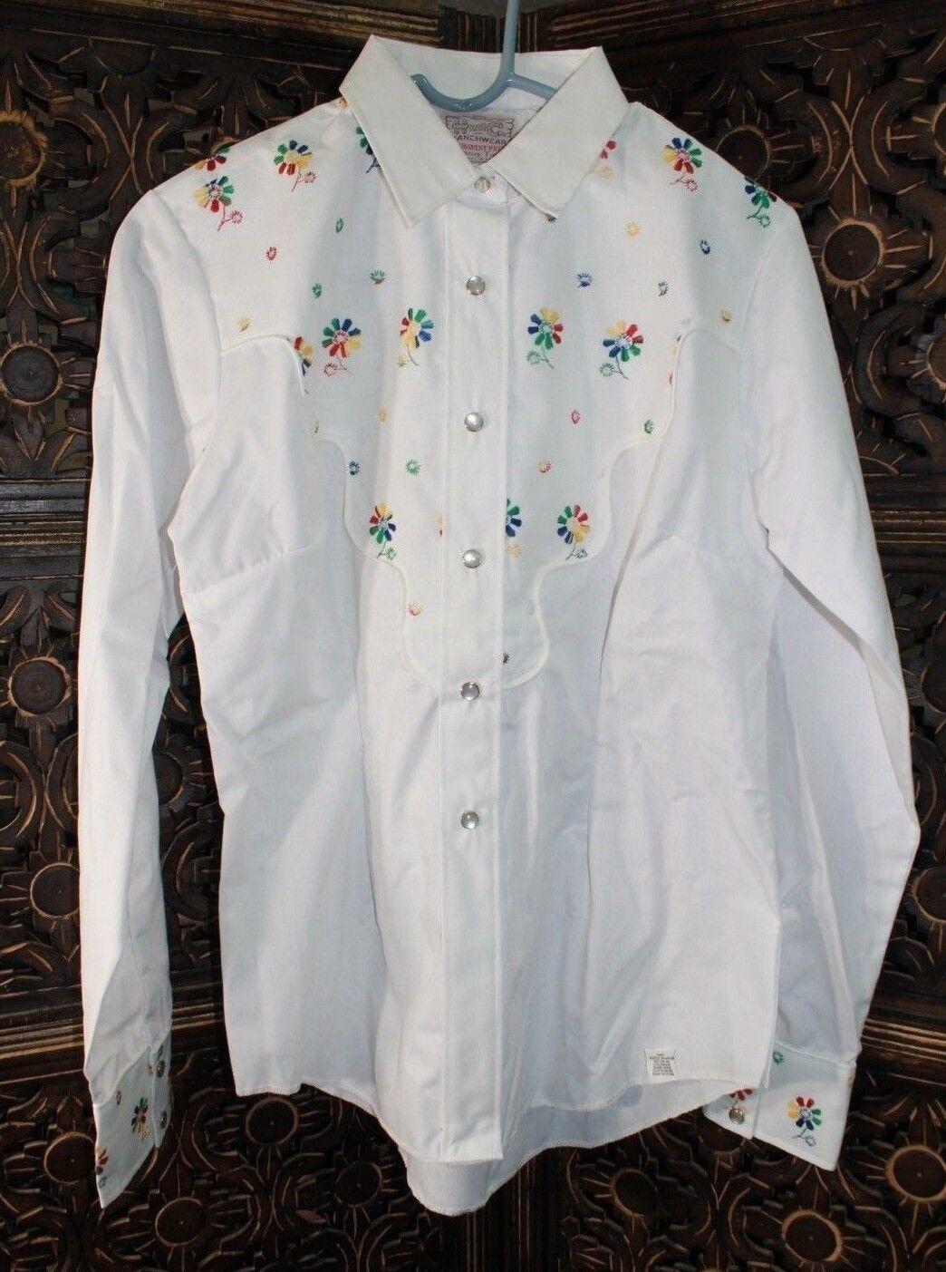 H BAR C Ranchwear damen Western Snap Up Long Sleeve Shirt Größe  36