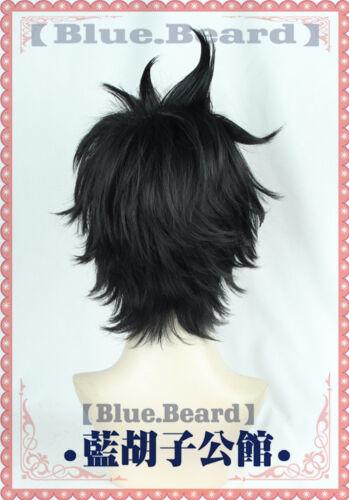 Black Clover Yuno Short  Black Cosplay Costume Wig Need Style CAP Track