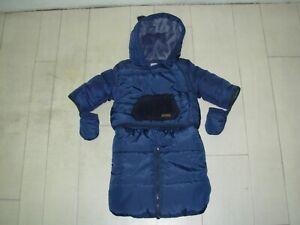VERTBAUDET-Combinaison-Pilote-Doudoune-bebe-3mois-60cm-bleu-marine