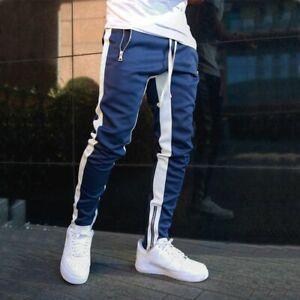 Pantalones Largos Deportivos Ropa De Gimnasio Chandal De Moda Casual Para Hombre Ebay