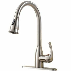Commercial-Kitchen-Sink-Faucet-Single-Handle-Stainless-Steel-Pull-Down-Sprayer