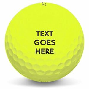 Personalized Text Or Logo On New Yellow Golf Balls 1 Dozen