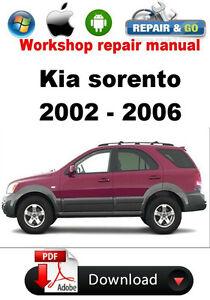 kia sorento 2002 2006 factory workshop repair manual ebay rh ebay com 2003 Kia Sorento Repair Manual repair manual 2006 kia sportage pdf