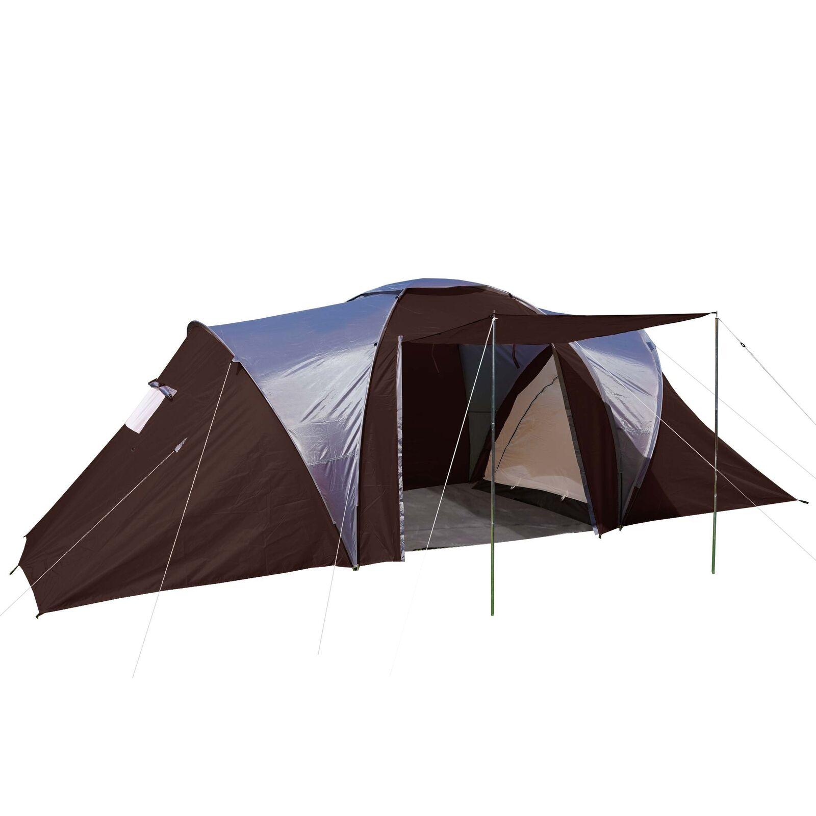 Campingzelt Laagri, 6-Mann Kuppelzelt Igluzelt Festival-Zelt, 6 Personen brown