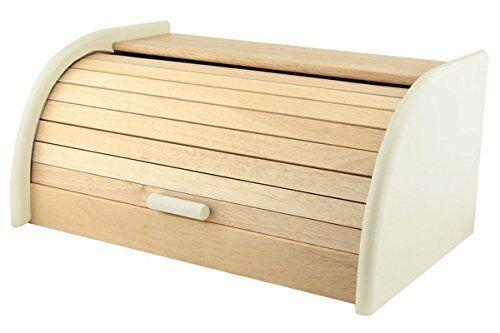 Caixa e armazenamento Novo em folha elegante Kitchen Craft Roll-Top Pão De Madeira Faia Bin