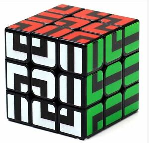 Z-Cube-3x3-Maze-Cube-Type-Speed-Rubik-039-s-Cube-Black