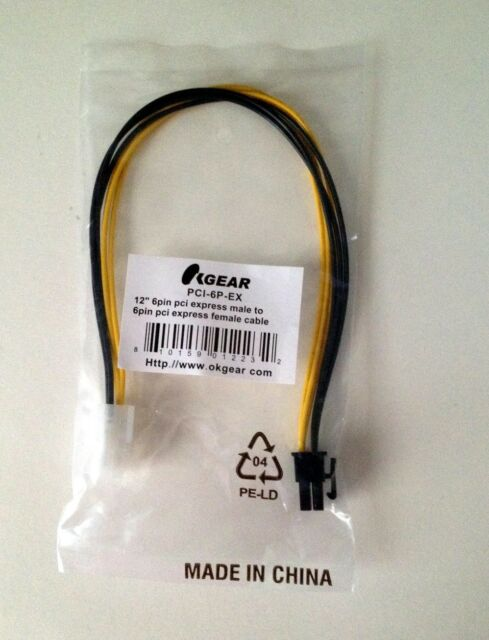 OKgear PCI-Express 6-pin Extension Cable