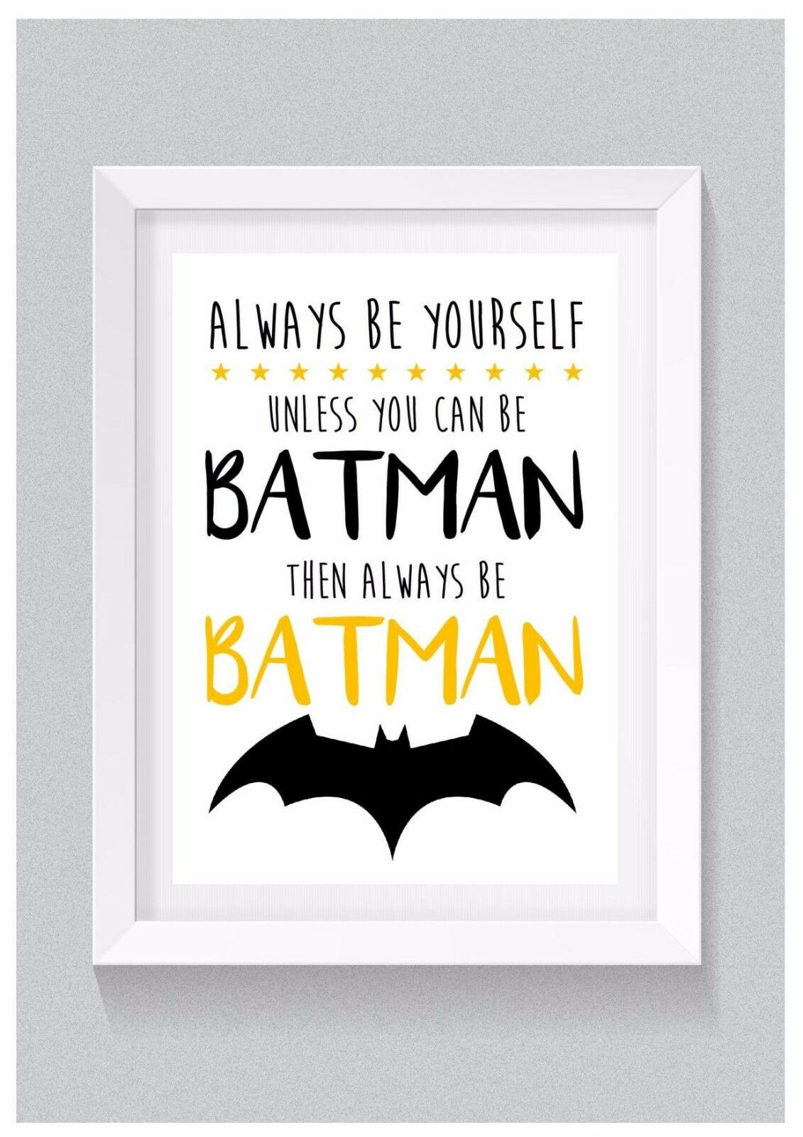 A4 personalizado de impresión: siempre ser Batman (Dormitorio De Niños/decoración infantil) Superhéroe