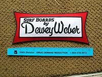 Dewey Weber Surfing Surfer Big Huge Jacket Patch Surfboard Longboard Surf Mint