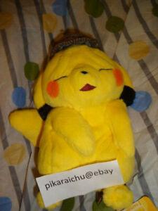 Detective Pikachu Wrinkled Face Plush Pokemon Center Japan New Ebay