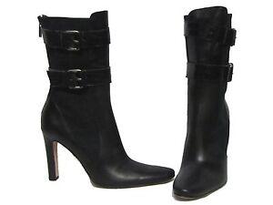 TANIA-SPINELLI-Articolo-Black-Croc-Patent-Belt-Strap-amp-Leather-Ankle-Boots-38-8