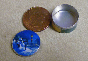Lid Is Removable Square Metal Tin Dolls House Miniature Room Accessory