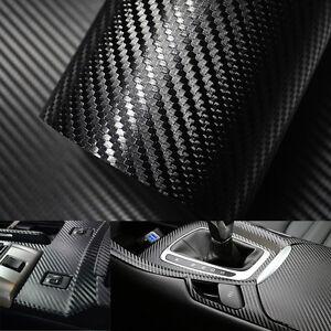 Negro-3D-Pegatina-Fibra-de-Carbono-Vinilo-Accesorio-Practico-Coche-30-x127cm